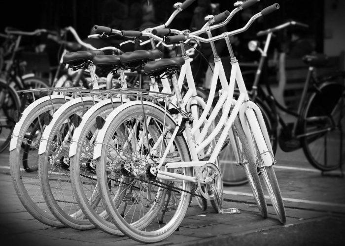 Fahrräder-grau